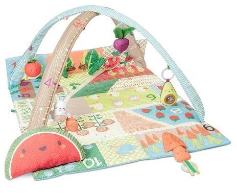 SKIP HOP Deka na hraní 5 hraček, polštářek Farmstand 0 m+
