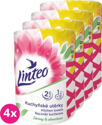 4x LINTEO Kuchyňské utěrky XXL 1ks, 50m, 2-vrstvé