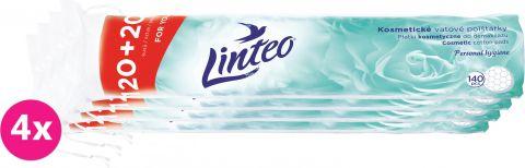 4x LINTEO Vatové polštářky Linteo 120 + 20ks