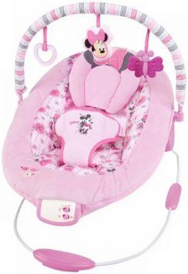 DISNEY BABY Lehátko vibrační Minnie Mouse Precious Petals Bouncer 0m+, do 9kg