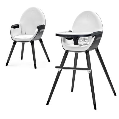 KINDERKRAFT Detská jedálenská stolička Fini – Full black