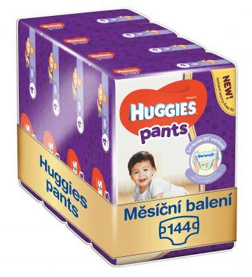 HUGGIES® Pants Jumbo 4 (9-14 kg), MĚSÍČNÍ ZÁSOBA 144 ks - plenkové kalhotky