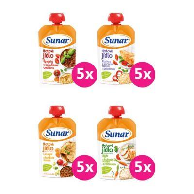 SUNAR Ochutnávkový XXL balíček mäsovo-zeleninových príkrmov (20x120 g)