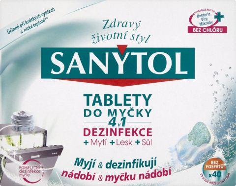SANYTOL 4 v 1 tablety do myčky 40 dávek