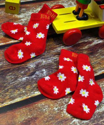 BLADE&ROSE Ponožky Red Daisy (2 ks) 0-6 měsíců