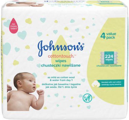 JOHNSON'S BABY Cottontouch vlhčené ubrousky 224 ks