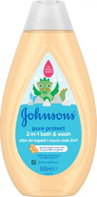 JOHNSON'S BABY Pure Protect koupel a mycí gel 2v1 500 ml