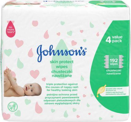 JOHNSON'S BABY Skin Protect vlhčené ubrousky 4x48 ks