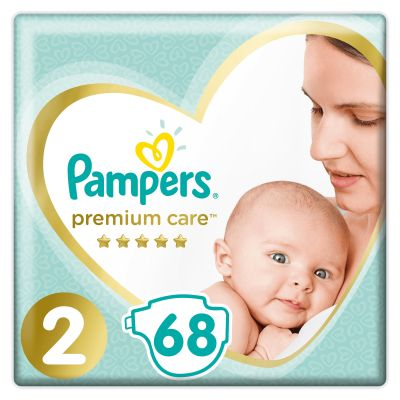 PAMPERS Premium Care 2 MINI (4-8 kg) 68 ks Value Pack – jednorázové pleny