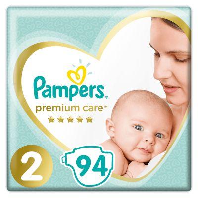 PAMPERS Premium Care 2 MINI (4-8 kg) 94 ks Jumbo Pack – jednorázové pleny