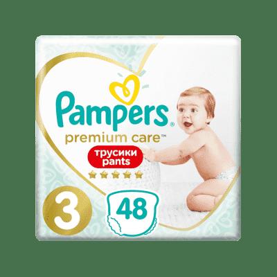PAMPERS Premium Care Pants 3 MIDI (6-11 kg) 48 ks Value Pack – plenkové kalhotky