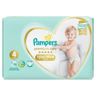 PAMPERS Premium Care Pants 4 MAXI (9-15 kg) 38 ks Value Pack – plenkové kalhotky