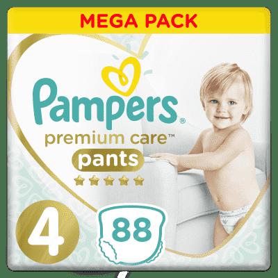 PAMPERS Premium Care Pants 4 MAXI (9-15 kg) 88 ks MEGA BOX – plenkové kalhotky