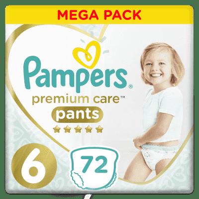 PAMPERS Premium Care Pants 6 MAXI (15+ kg) 72 ks MEGA BOX - plenkové kalhotky