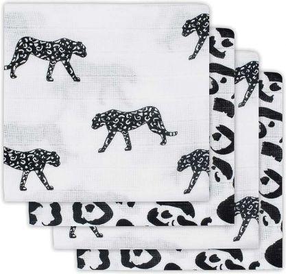 JOLLEIN Plena balení 4 ks – Leopard black white