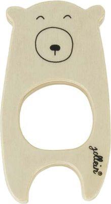 JOLLEIN Dřevěná hračka, kroužek do ručičky – Bear