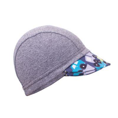 UNUO Funkční čepice s kšiltem UV 50+Autíčka, šedá XS (42 - 44 cm)