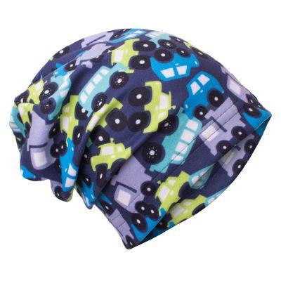 UNUO Fleecová čepice Autíčka L (53 - 58 cm)