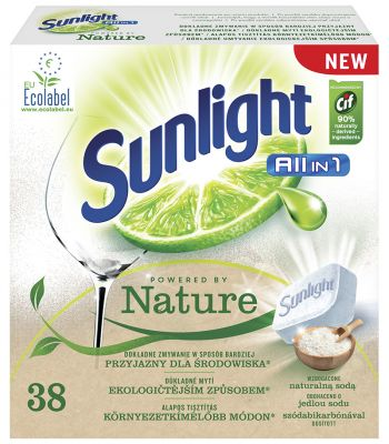 SUNLIGHT All in One Nature 38 ks – tablety do myčky