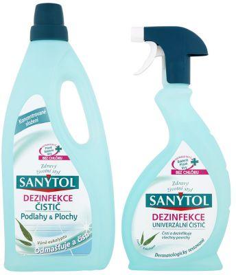 SANYTOL DUOPACK Dezinfekce Podlahy 1l + sprej univerzal 500 ml