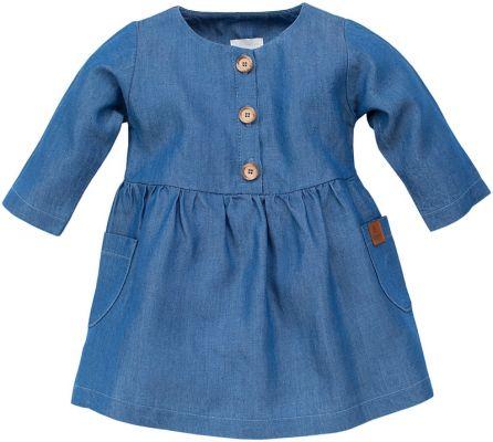 PINOKIO Šaty dlhý rukáv Happy Llama veľ. 68 – modrá