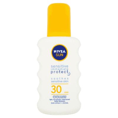 NIVEA Sun Sensitive sprej na opalování OF 30 200 ml