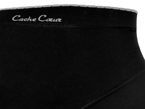 CACHE COEUR Illusion pás black XXL