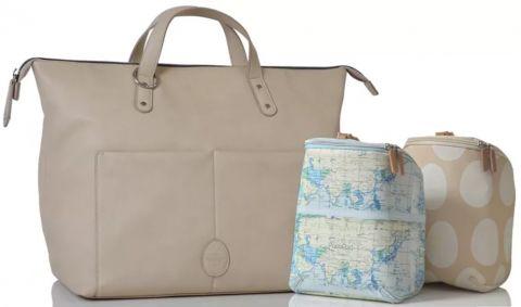 PACAPOD Přebalovací taška i batoh SAUNTON - chalk