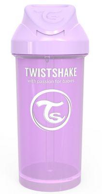 TWISTSHAKE Láhev s brčkem 360 ml (6m+) pastelově fialová