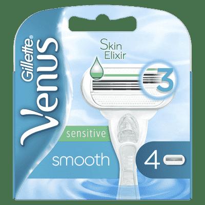 GILLETTE Venus Smooth Sensitive 4 ks – dámské náhradní hlavice