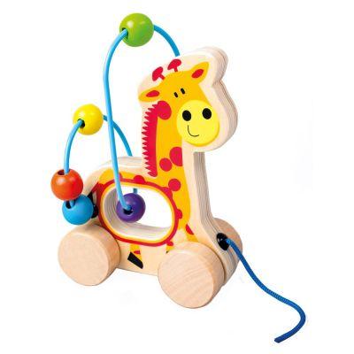 BINO Tahací žirafa, dřevěný labyrint