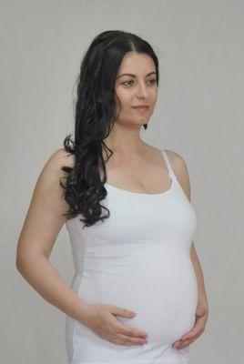 NIKA Tílko mateřské pro kojíci maminky NIKA INTIMA bílé L