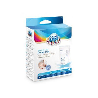 CANPOL BABIES Sterilní sáčky k uchovávání odsátého mléka 20 ks
