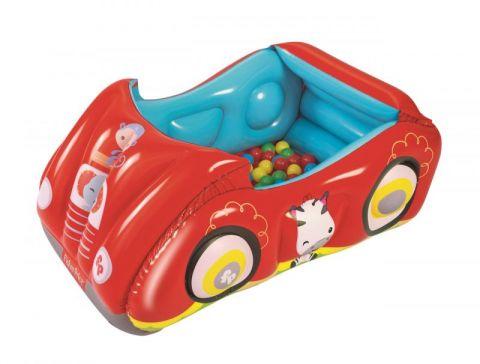 BESTWAY Nafukovací auto Fisher Price s míčky, 119x79x51 cm