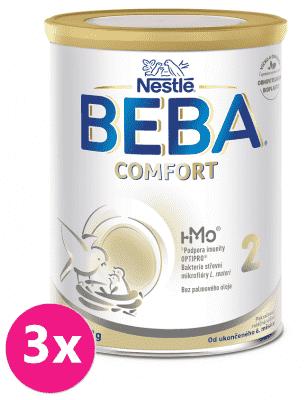 3x BEBA COMFORT 2 HM-O, pokračovací kojenecká mléčná výživa, 800 g