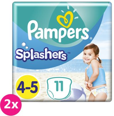 2x PAMPERS Pants Splashers Carry Pack vel. 4-5 (9-14 kg), 11 ks - jednorázové pleny do vody