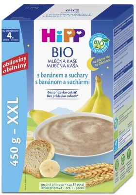 HiPP BIO Na dobrou noc s banánem a suchary 450 g – mléčná kaše