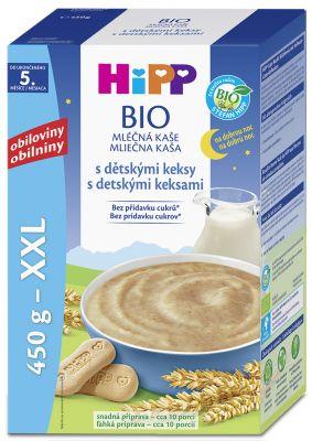 HiPP BIO Na dobrou noc s dětskými keksy 450 g – mléčná kaše