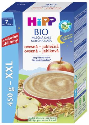 HiPP Kaše mléčná Bio na dobrou noc ovesná-jablečná 450 g