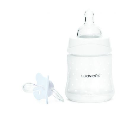 SUAVINEX Set láhev 150 ml 3P + Dudlík Fusion fyziologický -2-4 m