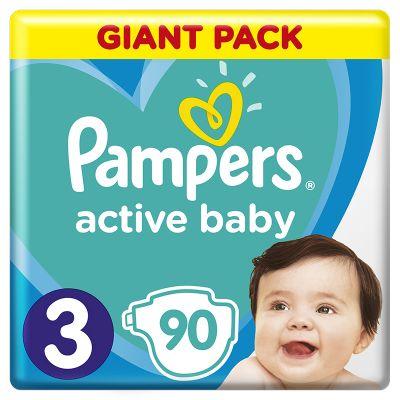 PAMPERS Active Baby 3 (6–10kg) 90 ks - jednorázové pleny