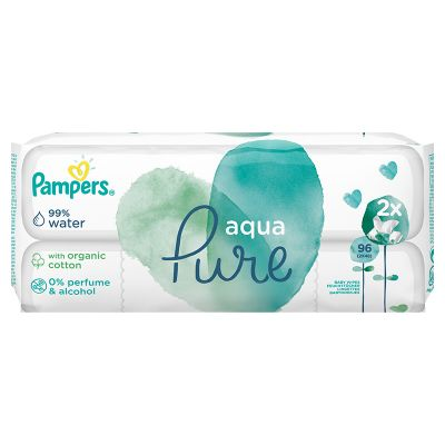 PAMPERS Aqua Pure vlhčené ubrousky 2 x 48 ks