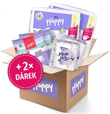 BELLA HAPPY BABY Start Box Newborn (2-5 kg) – jednorázové pleny