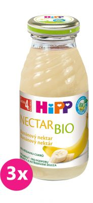 3x HIPP BIO Banánový nektar 200 ml