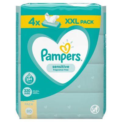 4x PAMPERS Sensitive XXL 80 ks - vlhčené ubrousky