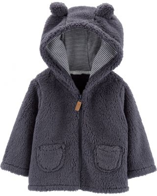 CARTER'S Kabátek s kapucí - šedý, 12m