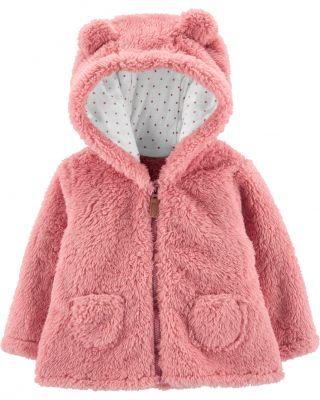 CARTER'S Kabátek s kapucí - růžový, 24m