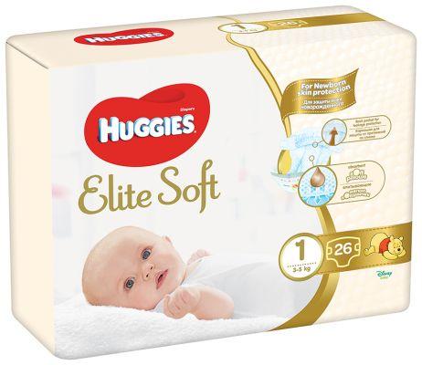 HUGGIES Elite Soft 1 (26 ks) - jednorázové pleny