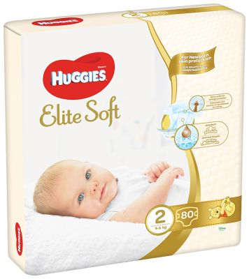 HUGGIES Elite Soft 2 (80ks) - jednorázové pleny