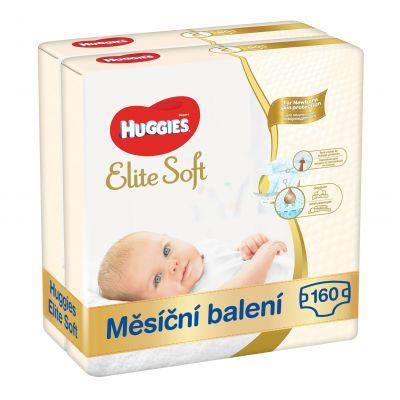 HUGGIES Elite Soft 2 (160ks) měsíční balení - jednorázové pleny